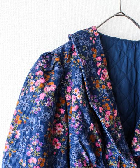 【tiny yearn】1970's Euro Flower Corduroy Tailored Jacket
