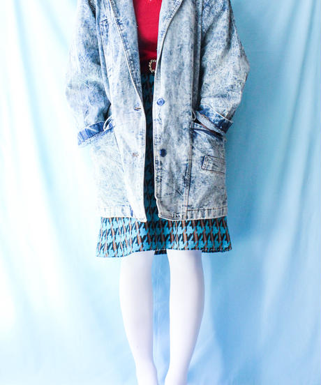 【tiny yearn】Chemical wash Denim Coat