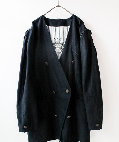 【Seek nur】Euro Black Linen Tyrol Jacket