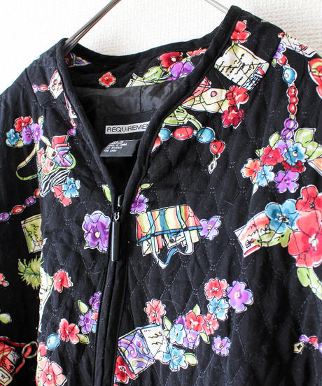 【tiny yearn】Flower Quilting Over Jacket