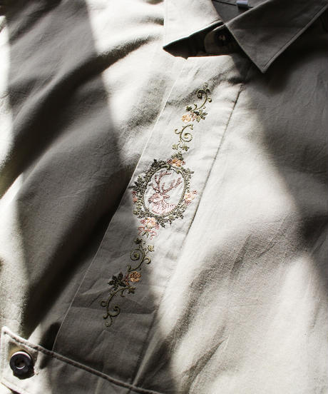 【Seek nur】Euro Embroidery Over Tyrol Blouse