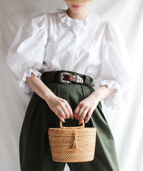 Vintage Box Straw Bag