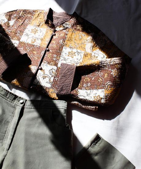 【Seek nur】Flower Quilting Reversible Jacket