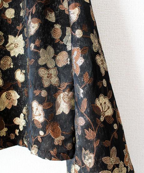 【Seek nur】Metallic Flower China Blouse