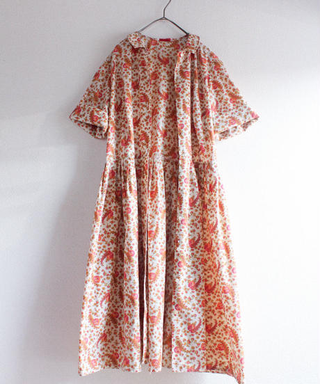 【Seek nur】1960's Flower Shirt Dress