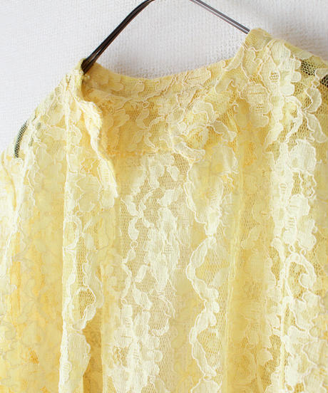 【tiny yearn】1970's Flower Lace Gown