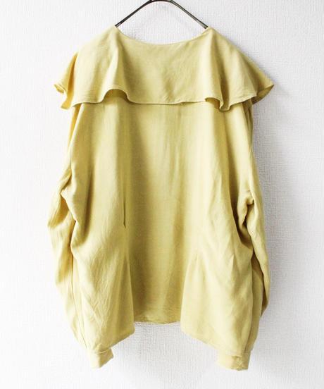 【Seek an nur】CANADA Big Collar Mustard Blouse