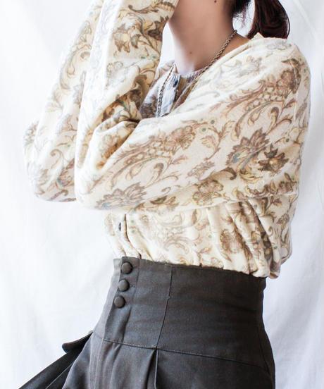 【Seek nur】Pierre Cardin Silkscreen Cardigan