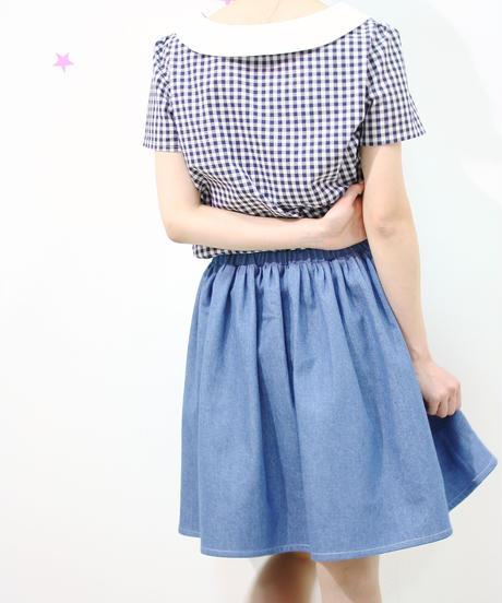 SNOWPY☆ギャザースカート♡(デニム)