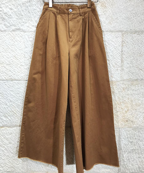 "Cotton twill wide pants ""3color""[201937651]"