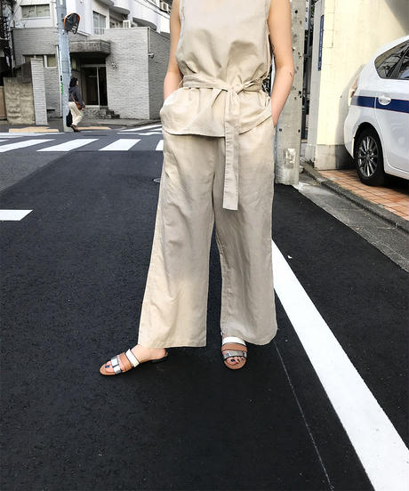 "linen mix easy pants  ""1color"" [201937632]"