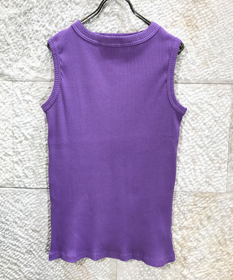 "Rib jersey  Boat neck Tank top ""4color""[201927590]"