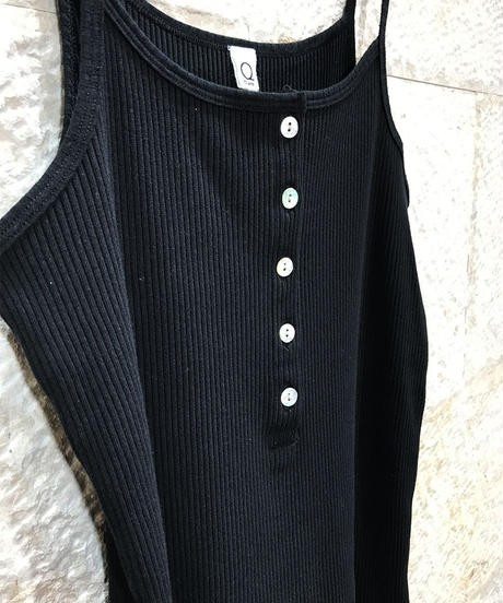 "Rib jersey Henley neck camisole ""5color""[201927588]"