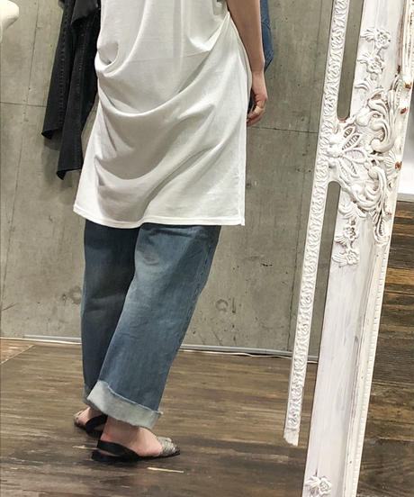 "OE Jersey V-neck french tunic  ""2color"" [201947603]"