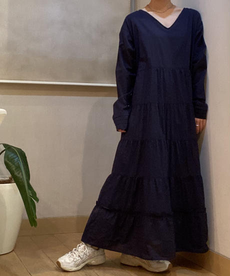 cotton boil_tiered dress [2603922]