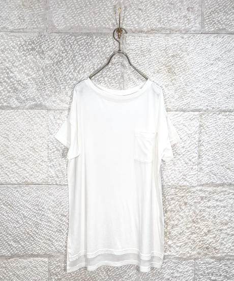 "Material mix waffle pocket T  ""3color"" [204947701]"