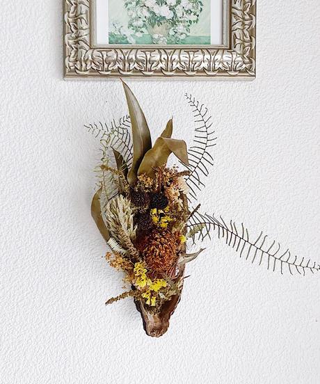 11種の植物を使ったカカオの実のアンティーク・インテリア