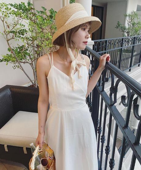 perle back ribbon dress