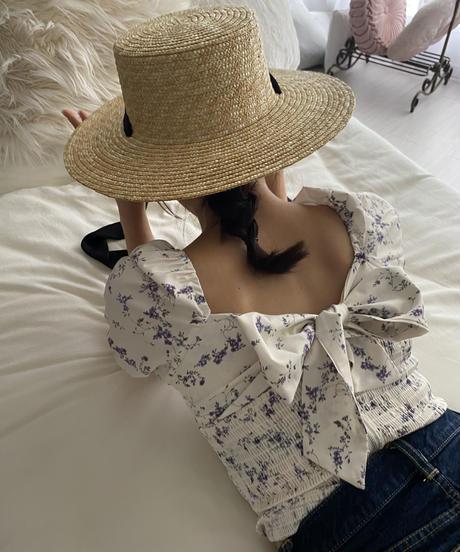 Belle strawhat -black-