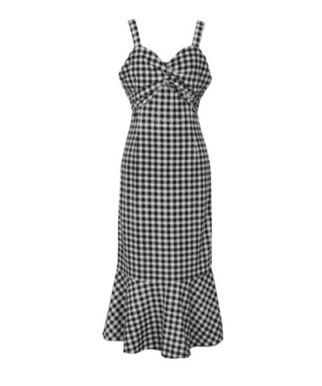 gingham check dolly one-piece
