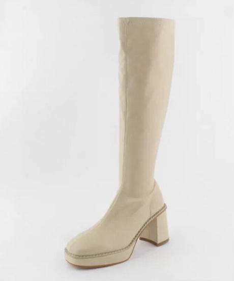 Long boots ivory