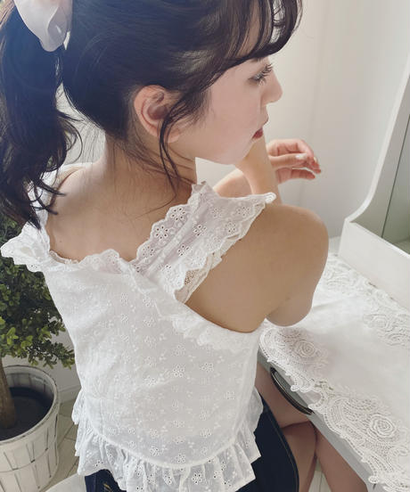 frill lace bustier
