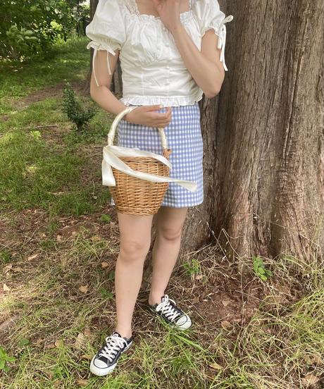 tiny cotton blouse -milk-