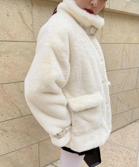 White boa coat