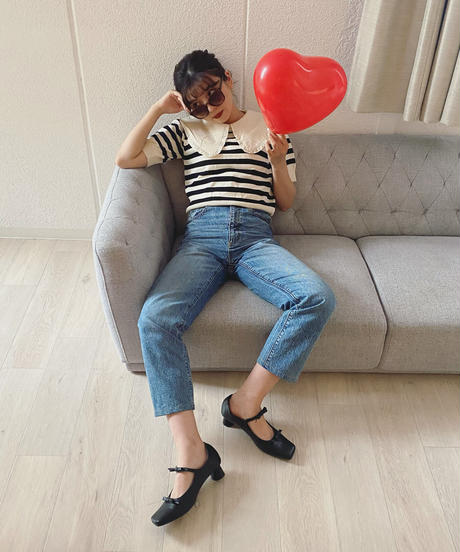 sophie ribbon shoes -black-