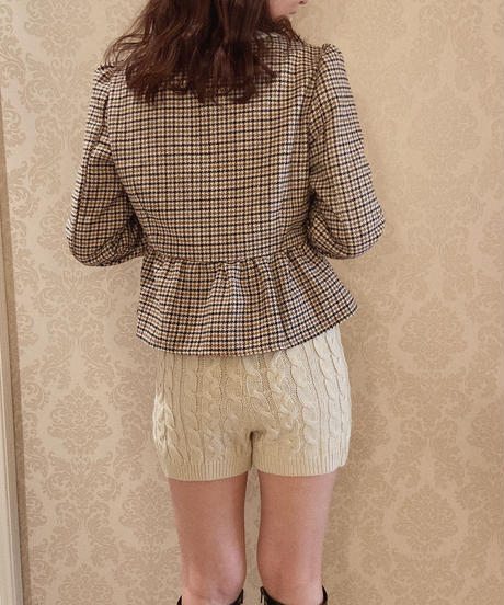 Peplum check tops
