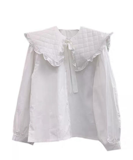 quilting collar blouse