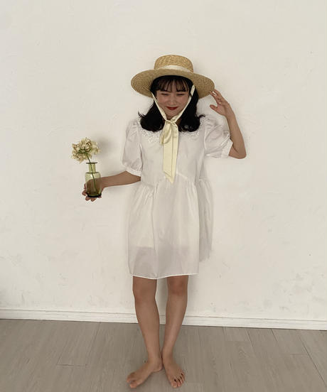 Belle strawhat -white-