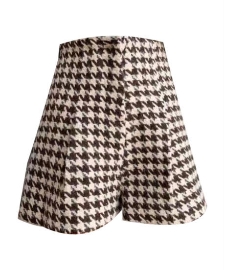 Mini Check pants / brown