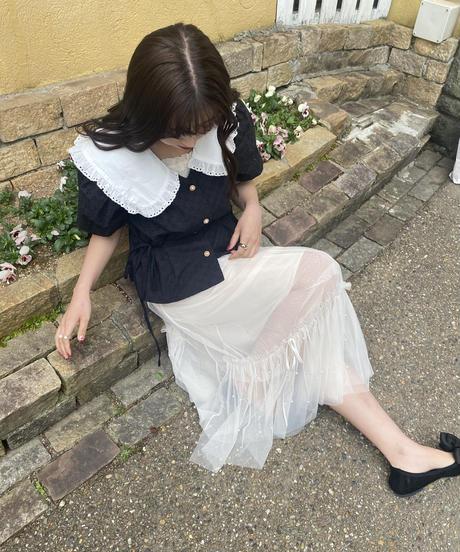 black cotton blouse