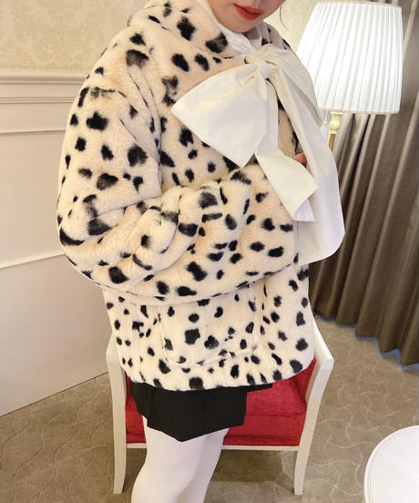 leopard far coat