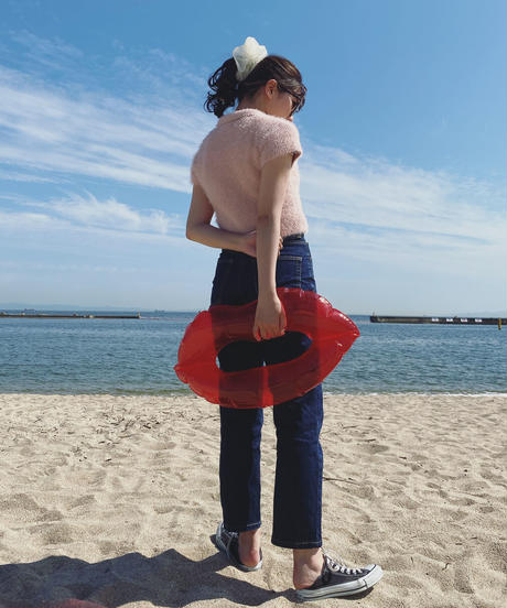 Shaggy knit -baby pink-