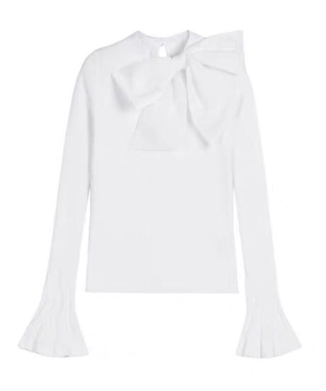 big ribbon knit / white