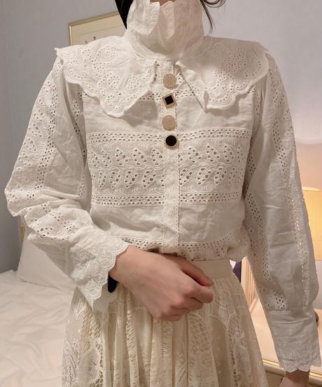 white girly blouse
