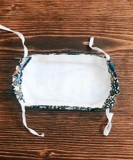 折り上げ立体マスク*リバティコーデュロイ温室(大人サイズL)