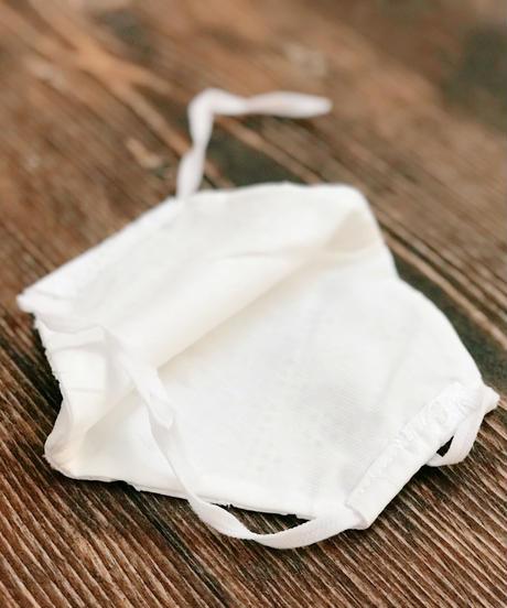 クール立体マスク*レース刺繍flowe rデザイン(大人サイズL)  接触冷感