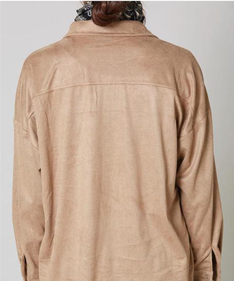 フェイクスエードシャツ:3色展開
