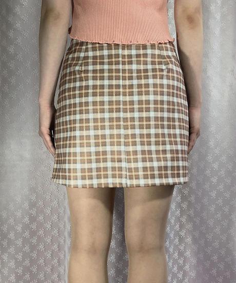 チェック柄スカート:3色展開
