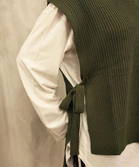 ニットベスト+ロングTシャツ:4色展開