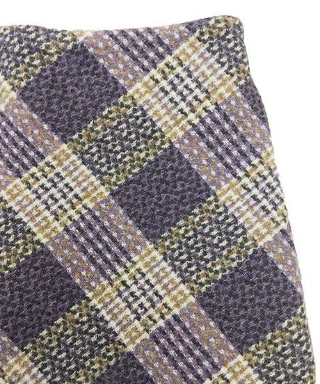 ツイードチェックミニスカート:3色展開