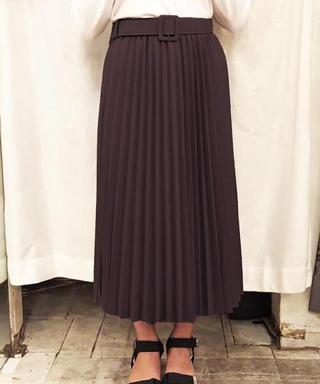 ベルト付プリーツスカート:4色展開