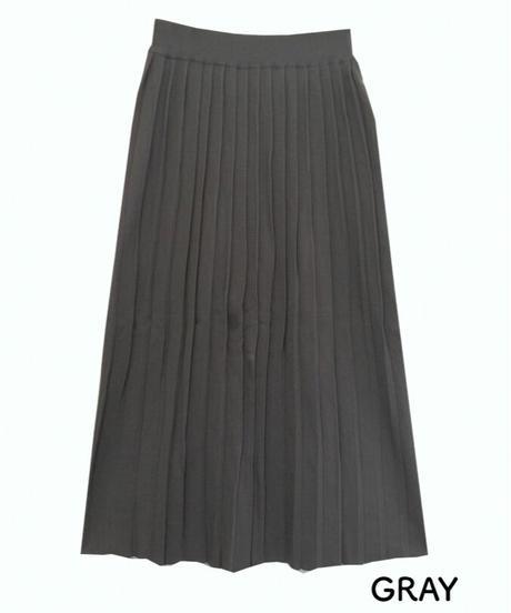 プリーツニットスカート:6色展開