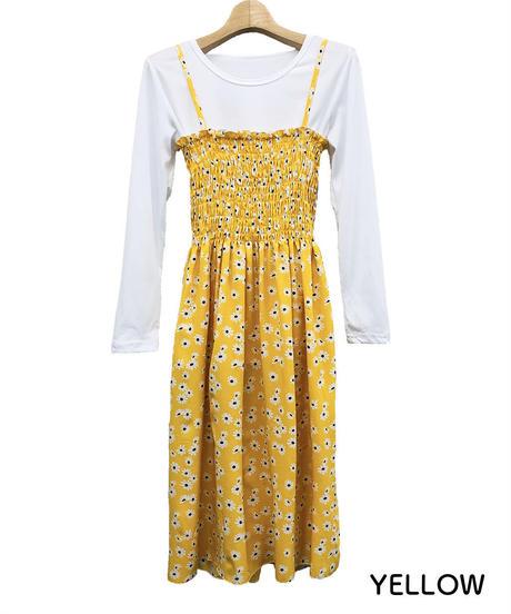 Tシャツセット花柄キャミワンピ:4色展開