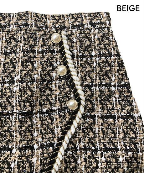 アシンメトリーデザインミニスカート:2色展開
