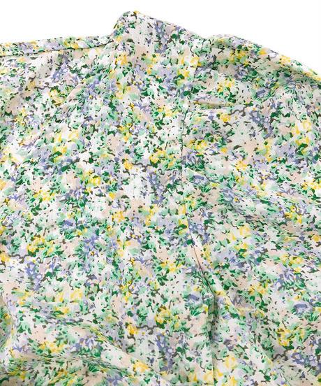 ねじりデザイン花柄ブラウス:4色展開