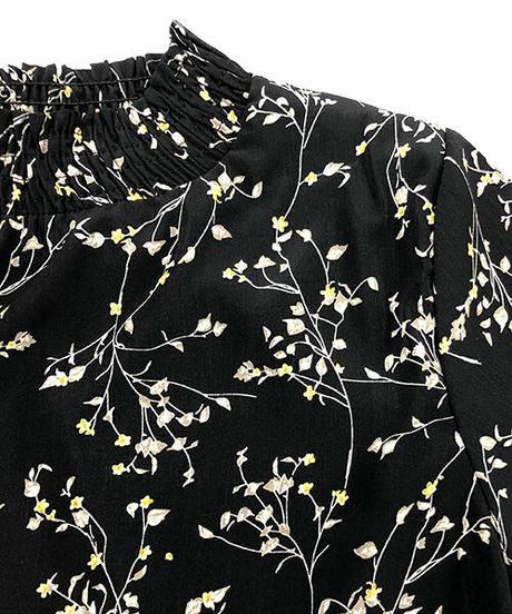 花柄ティアードロングワンピース:3色展開